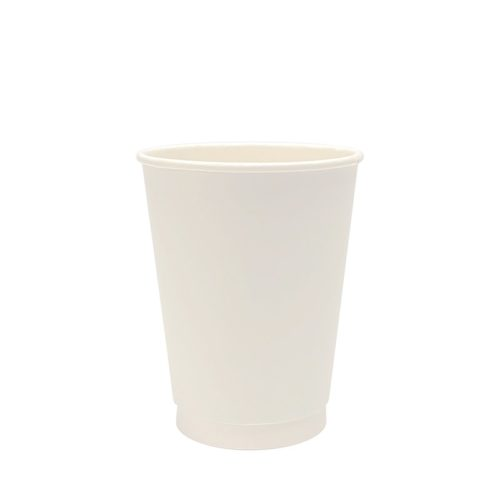 12oz Double Wall Paper Cup White