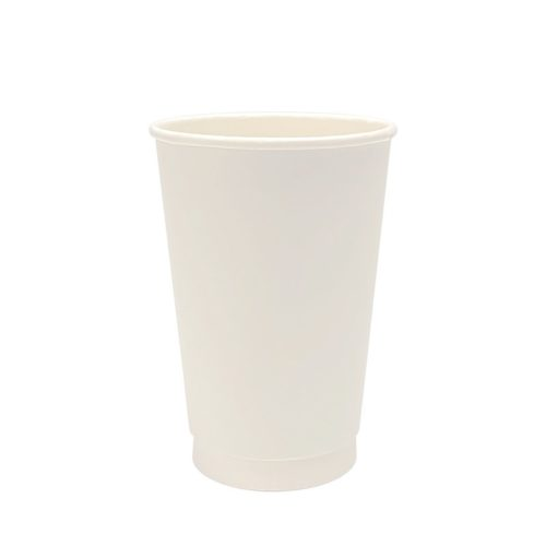 16oz Double Wall Paper Cup White